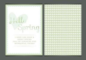 Vektor Spring kort