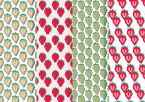 Vector Seamless Patterns av jordgubbar