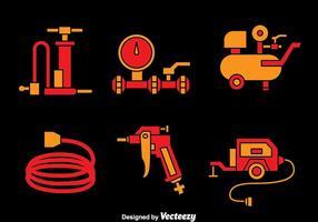 Luftpumpe und Kompressor-Vektoren vektor