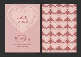 Vector Hochzeits-Einladung mit empfindlichem Herz