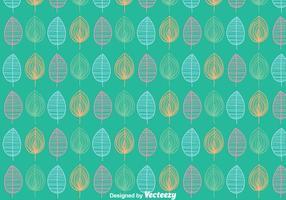 Blätter Ornament-Muster-Hintergrund vektor