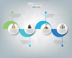 Infografik-Vorlage mit digitalen Marketing-Symbolen