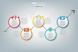 Infografik Vorlage und Symbole. Geschäftskonzept mit Prozessen. vektor