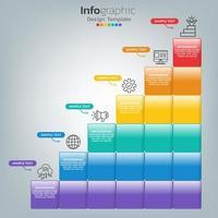 framgång infographic mall med trappsteg