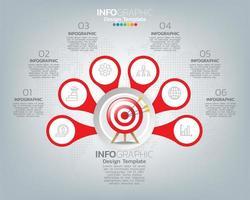 mål och element med siffror och infografisk text