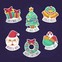 süße Weihnachtsaufkleber