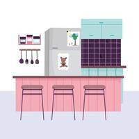 Kücheninnenraumhintergrund