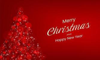 röd god jul bakgrund vektor