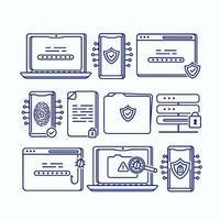 Cybersicherheitssymbolsatz