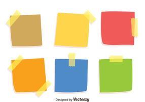 Färgglada stiky Notes vektorer