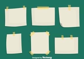 Haftnotizen Papier Vektoren