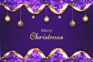 lila frohe Weihnachten Hintergrund