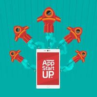 app startar upp med hastighetslogistik vektor