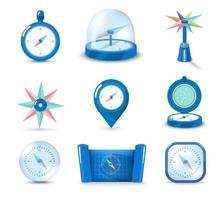 Satz Symbolkompass vektor