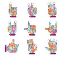 Hand bunte Form Diamant vektor