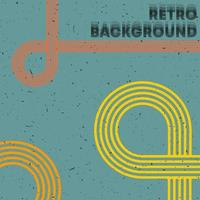 retro grunge textur bakgrund med vintage färg ränder vektor
