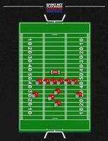 amerikansk fotboll ombord fält vektor