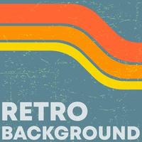Retro Grunge Textur Hintergrund mit Vintage Farbstreifen vektor