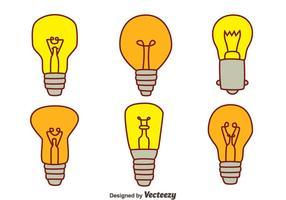 Hand gezeichnete Glühlampe Sammlung Vektoren