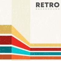 linjär bakgrund med retro konsistens och färgade ränder vektor