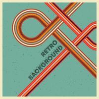 retro grunge textur bakgrund med vintage färgglada ränder. vektor
