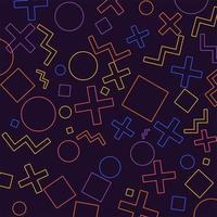 geometriska konturer mönster bakgrund vektor