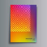 abstraktes Designplakat mit Raute und Farbverlaufsbeschaffenheit