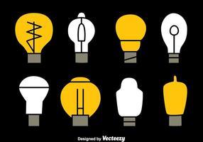 Glühbirne Sammlung Vektoren