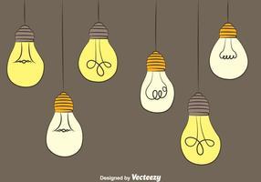 Hängende Glühlampe Vektoren