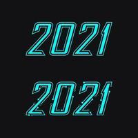 2021 nyårsikon vektor