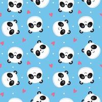 panda ansiktsmönster