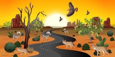vilda ökenlandskap på dagtid scen