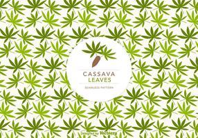 Cassava Blätter Vector Seamless Pattern