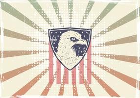 American Eagle Seal mit amerikanischer Flagge vektor