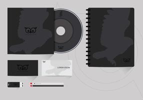 Corporate Identity Vorlage Mit Owl Logo vektor