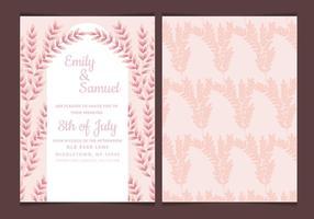 Vektor bröllopinbjudan med Feminine grenar