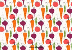 Doodle Gemüse Muster vektor
