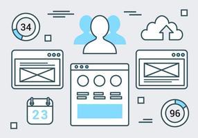 Kostenlose Web-Layout-Vektor-Hintergrund