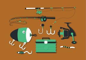 Angeln Werkzeuge Set Vektor-Pack vektor