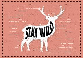 Freie Hand Drawn Deer Hintergrund