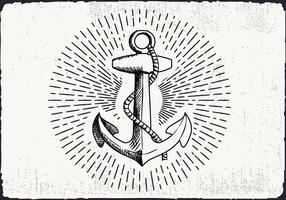 Freie Hand Drawn Anchor Hintergrund vektor