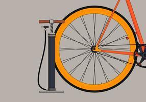 Luftpumpe und Fahrrad vektor