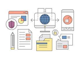 Global Business Ikoner för gratis i Minimal Designad Vector