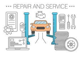 Kostenlose Fahrzeugreparatur und Service Shop Vektoren