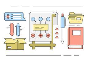 Freie Linear Office Icons