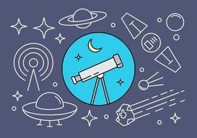 Freie linearen Raum-Vektor-Icons