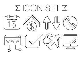 Freie Minimal Art Kontakt Icons