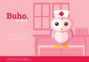 Buho Krankenschwester Charakter Vektor