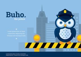 Buho Police Karaktär Vektor