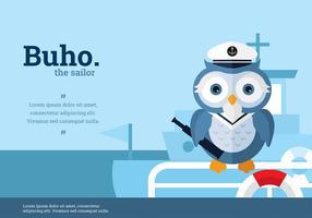 Buho Sailor Karaktär Vektor